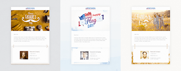 New Flag and Father's Day Email Campaigns