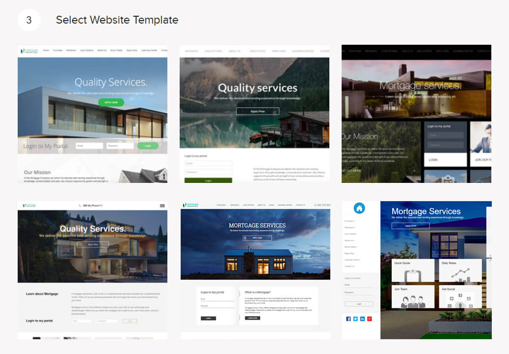 Mortgage Website Builder Build Your Mortgage Website With BNTouch - Mortgage website templates