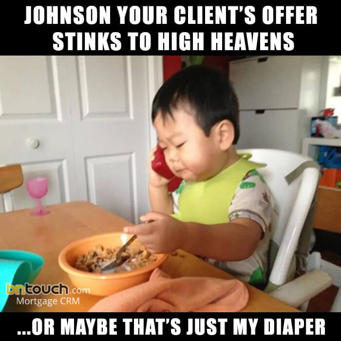 Business baby mortgage meme