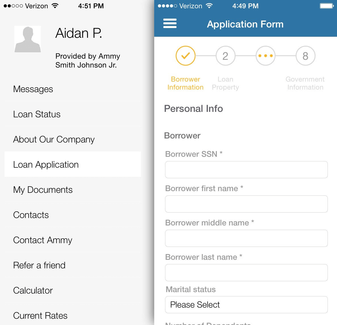 Mobile 1003 Mortgage Application