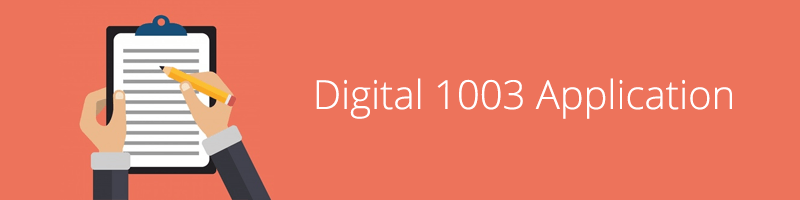 Digital 1003 Application