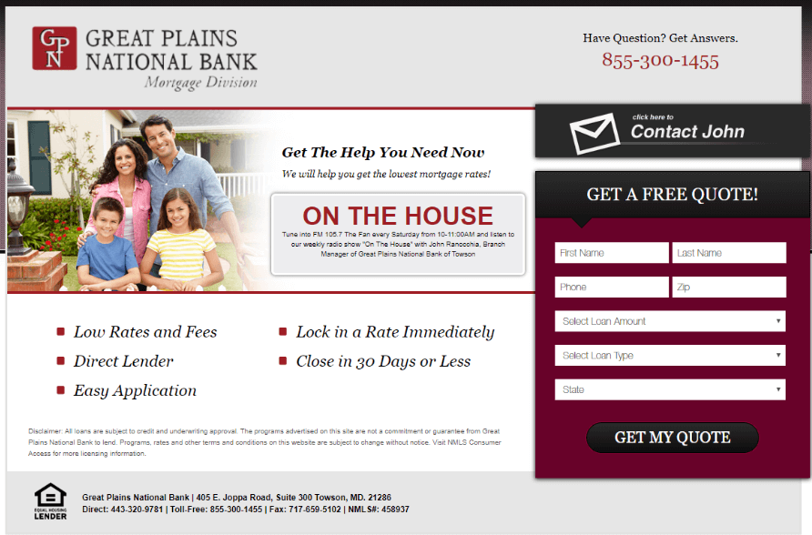 Family Mortgage Landing Page