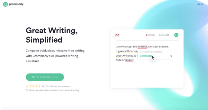 Grammarly content example