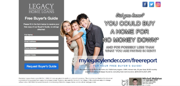 automate landing page mortgage referrals