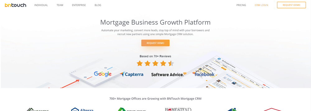 BNTouch Mortgage Retargeting Software