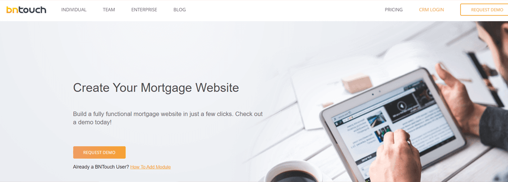 BNTouch Mortgage Website Builder