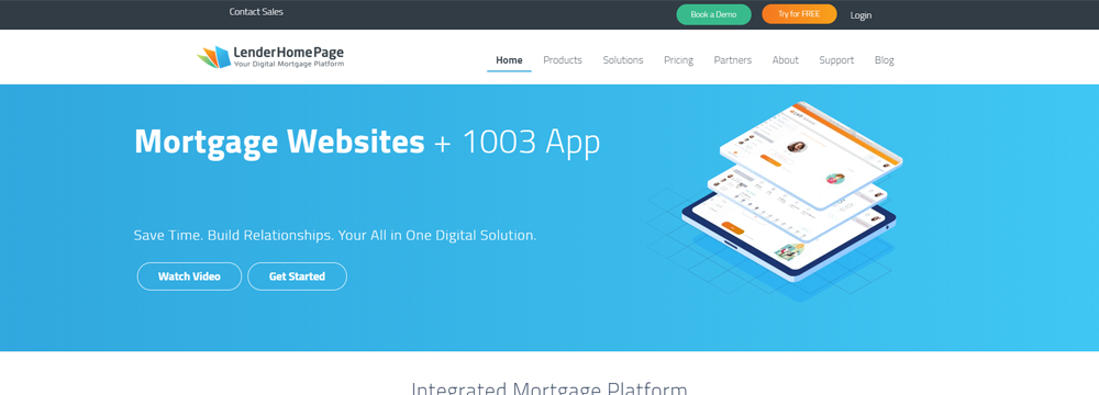 Lender Home Page